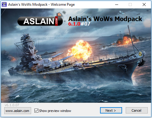 0 7 12 0] Aslain's WoWS ModPack Installer #03 (23-12-2018) - Page