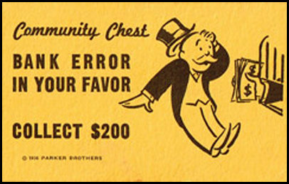 Image result for bank error in your favor