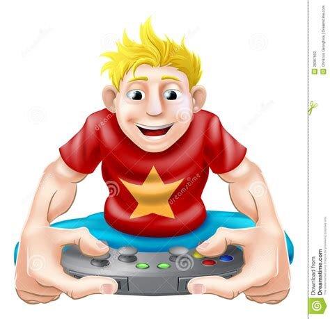 Happy gamer stock vector. Illustration of addict, male ...