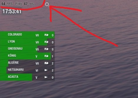 Show FPS and Ping - Newcomers' Section - World of Warships