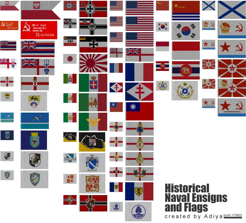 0760historical naval ensigns flags in 4k hd visual mods ship flags build 180630 publicscrutiny Images