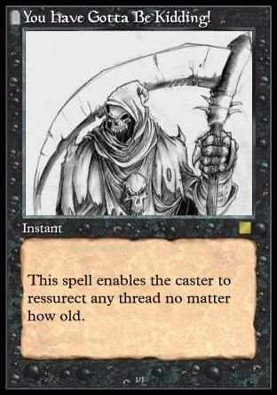 Image result for necro thread card meme