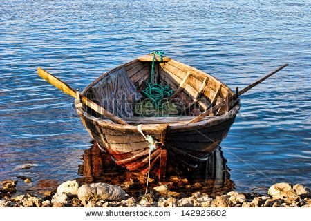 Image result for Old man in rowboat