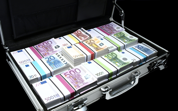 wallpapers #banknotes #download #suitcase #mountain #money #with #euro  #ofDownload wallpapers Suitcase with money, euro, ba… | Money cash, Money  stacks, Bank notes