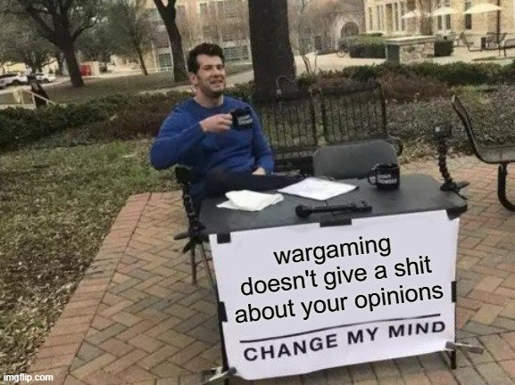 r/WorldOfWarships - I suppose they care if your opinions match their own...
