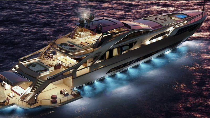 "2018 Pershing 140 Luxury Superyacht Project - The New Dimension of  ""Pershing Thrill"" - YouTube"