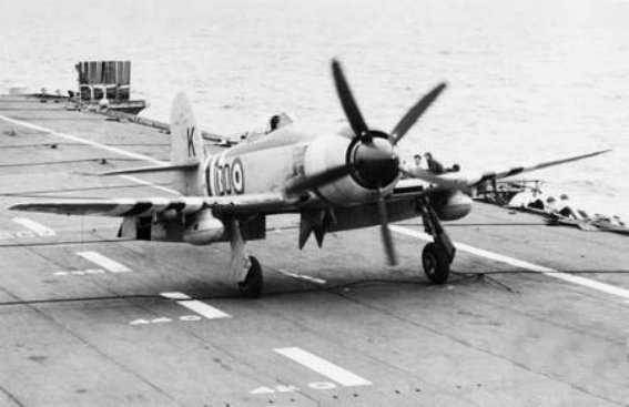 Image result for hawker sea fury carrier
