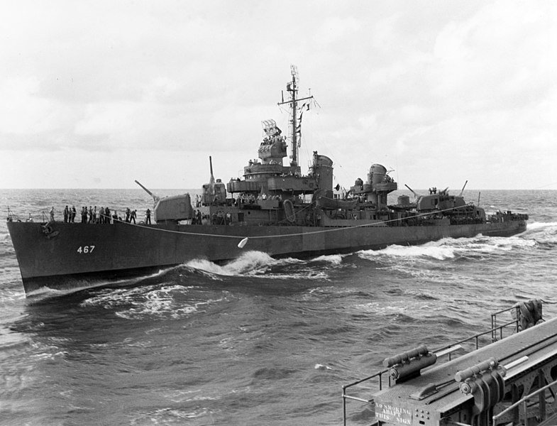 Plik:USS Strong (DD-467) underway at sea, circa in early July 1943 (80-G-52931).jpg